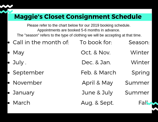 Consignment schedule